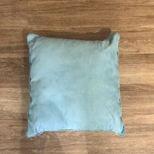 Tiffany blue colored throw pillow
